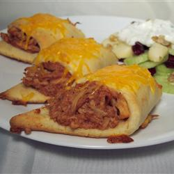 Pulled Chicken Crescents