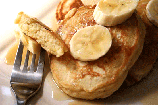 Pumpkin Sour Cream Pancakes