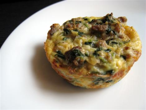 Quiche -- Spinach Sausage