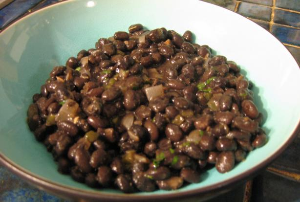 Quick and Easy Seasoned Black Beans