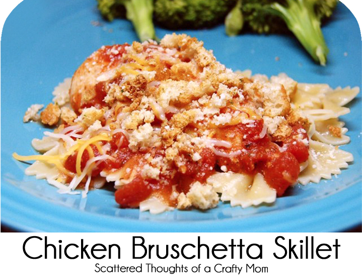 Quick Skillet Chicken Bruschetta
