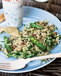 Quinoa Salad with Sugar Snap Peas