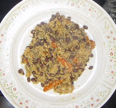 Quinoa With Oyster Mushrooms and Adzuki Beans