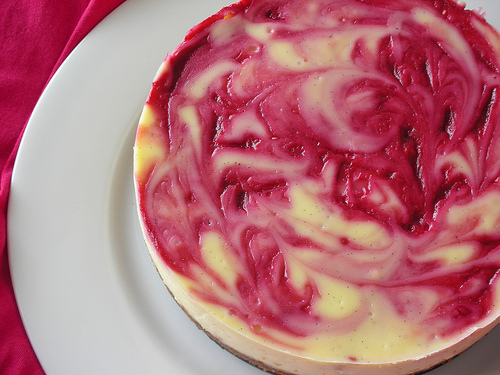 Raspberry and Cream Cheese Cake