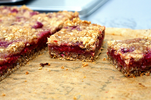 Raspberry Oatmeal Bars - Recipegreat.com