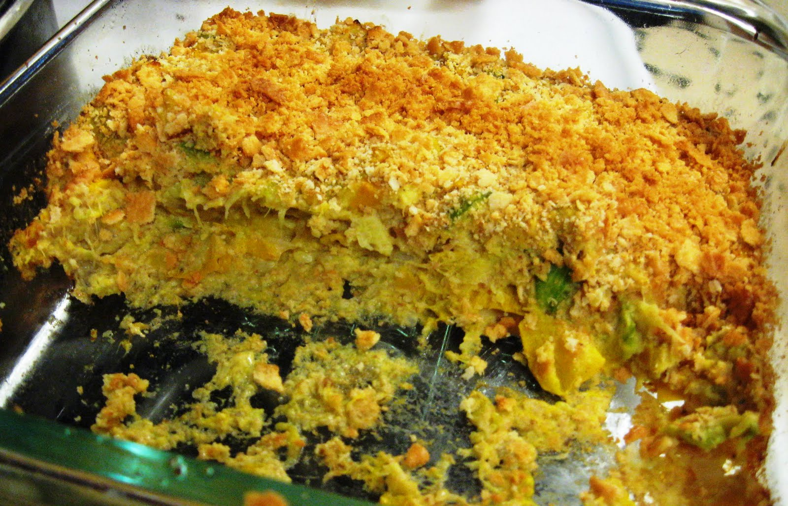 Reduced Calorie Summer Squash and Zucchini Casserole