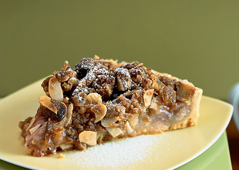 Rhubarb Tart With Brown Butter Streusel