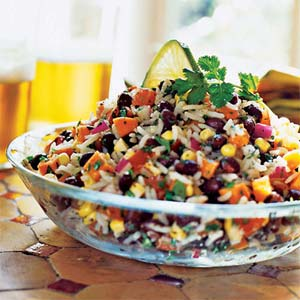 Rice, Black Bean & Feta Salad