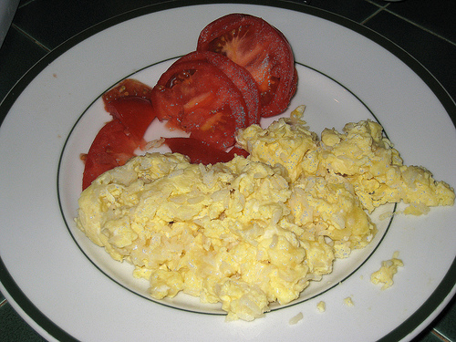 Rice Cooker Scrambled Eggs
