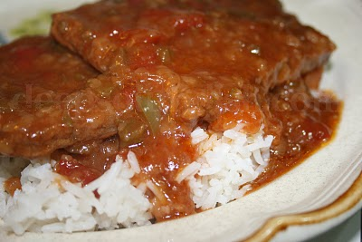 Rick's Crock Pot Smothered Steak