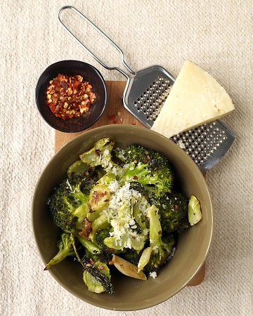 Roasted Broccoli With Grated Manchego