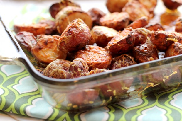 Roasted Cheddar Potatoes