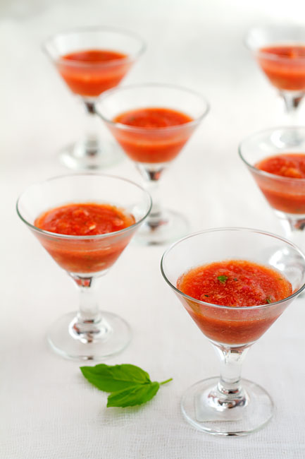 Roasted Red Pepper & Tomato Gazpacho