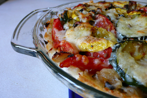 Roasted Vegetable-Cheese Pie