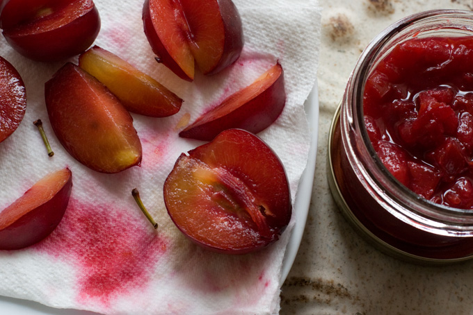 Rose Water Plum Compote