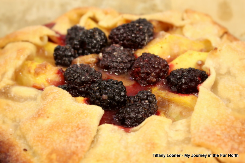 Rustic Peach & Berry Galettes