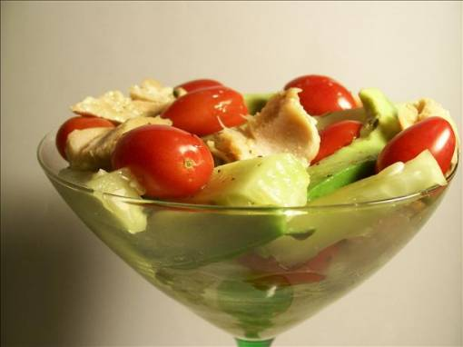 Salmon Martini for 2 (Salad in a Glass)