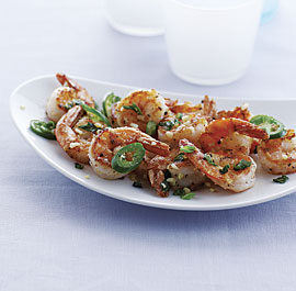 Salt-and-Pepper Shrimp with Garlic and Chile