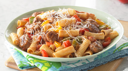 Sausage and Pepper Pasta Supper