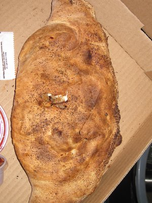Sausage and Pepperoni Cheese Stuffed Calzone