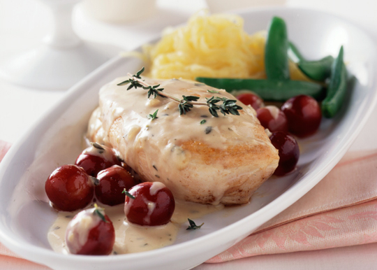 Sauteed Chicken Breasts With Grapes and Mint