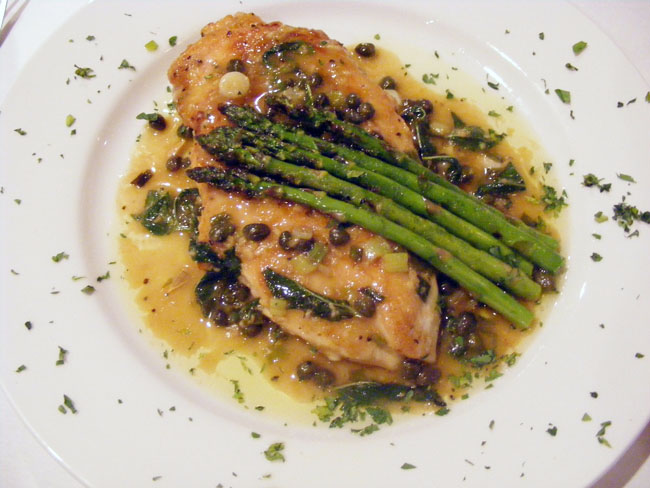 Sauteed Chicken with Capers and Lemon Butter