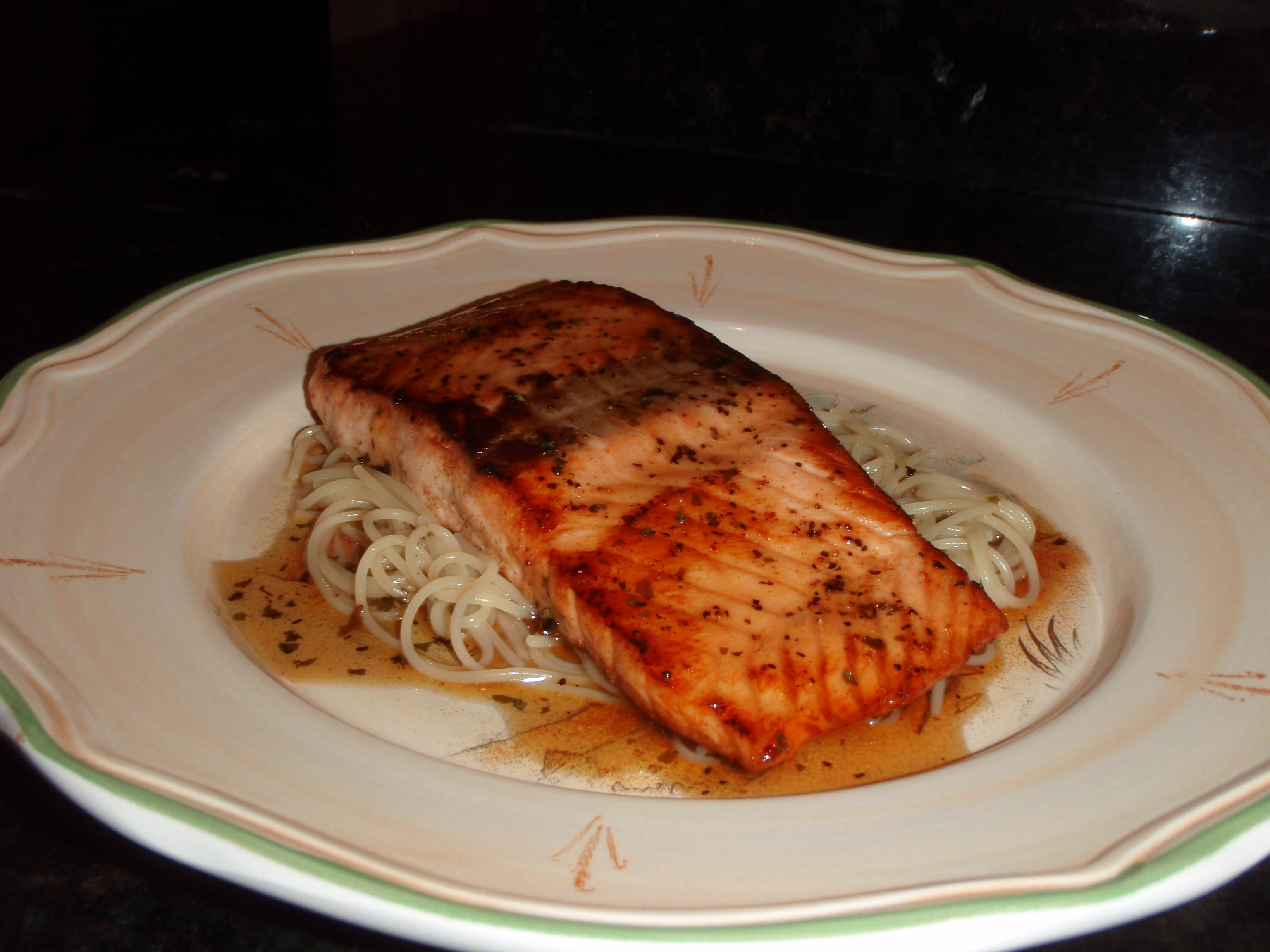 Sauteed Salmon With Lime-Honey Sauce