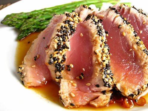 Seared Ahi Tuna With Lavender-Pepper Crust