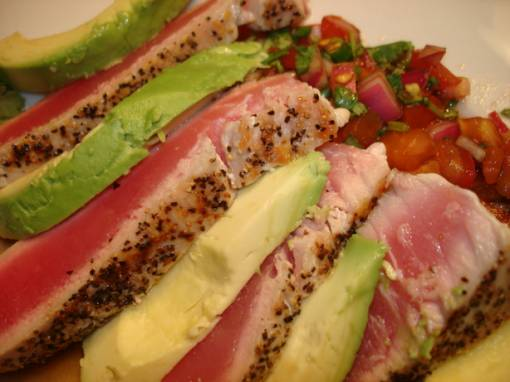 Seared Tuna With Japanese Salsa