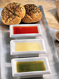 Seed Rolls with Dipping Oils
