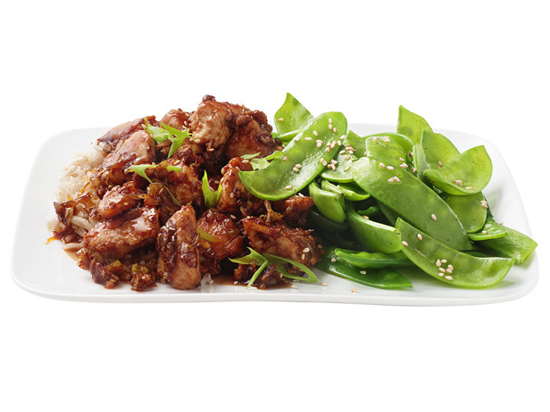 Sesame Chicken with Ginger & Snow Peas