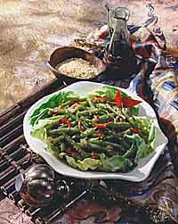 Sesame Green Beans and Red Pepper