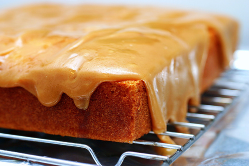 Simple Caramel Coffee Cake