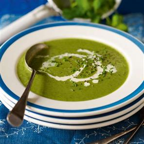 Simple Spinach and Watercress Soup