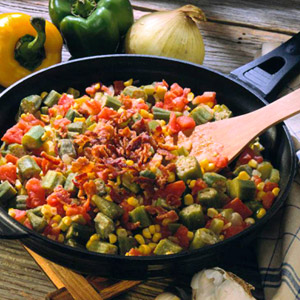 Skillet Okra and Vegetables
