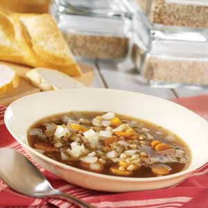 Slow Cooker Barley and Lentil Soup