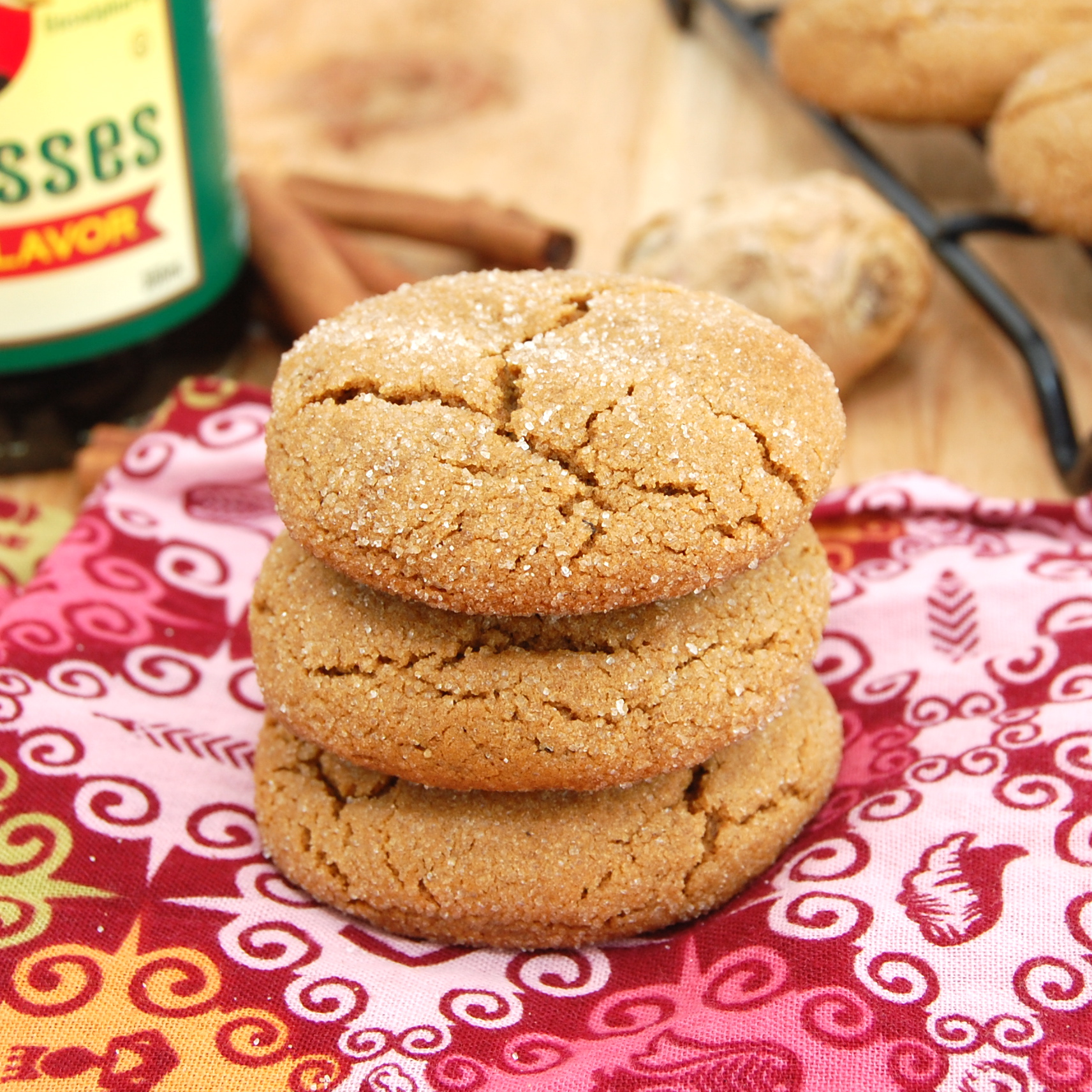 Soft and Chewy Molasses Spice Cookies - Recipegreat.com