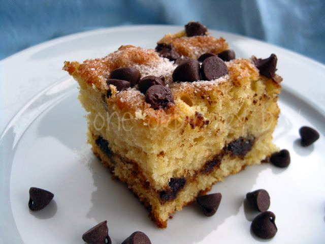 Sour Cream Cake With Chocolate Chips