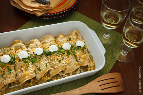 Southwest Chicken Enchiladas - Healthier Version