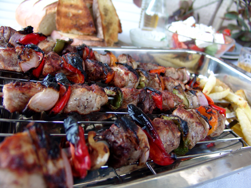 Souvlaki (Grilled Meat on Skewers)