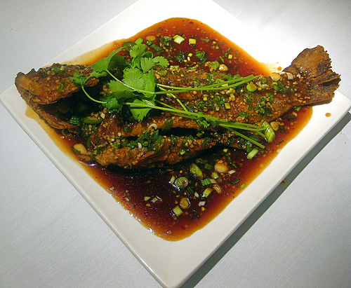Soy Ginger and Chilli Fish.