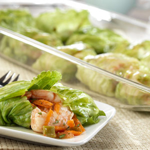 Spiced Shrimp in Lettuce Rolls