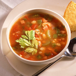 Spicy Ham and Bean Soup