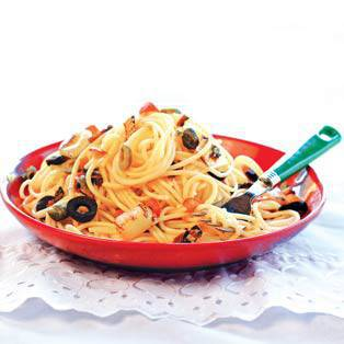 Spicy Pasta With Capers and Olives