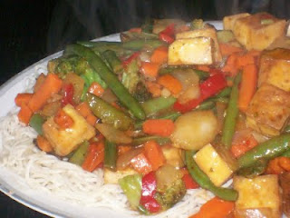 Spicy Tofu and Vegetable Stir-fry