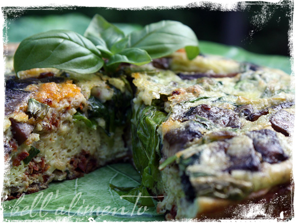 Spinach and Portobello Frittata