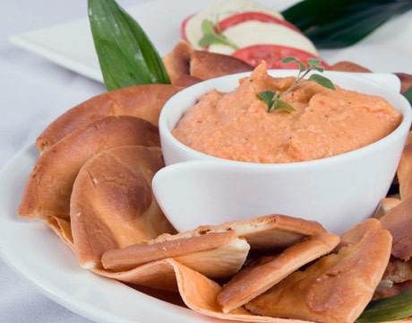 Spinach-Roasted Red Pepper Dip - Recipegreat.com