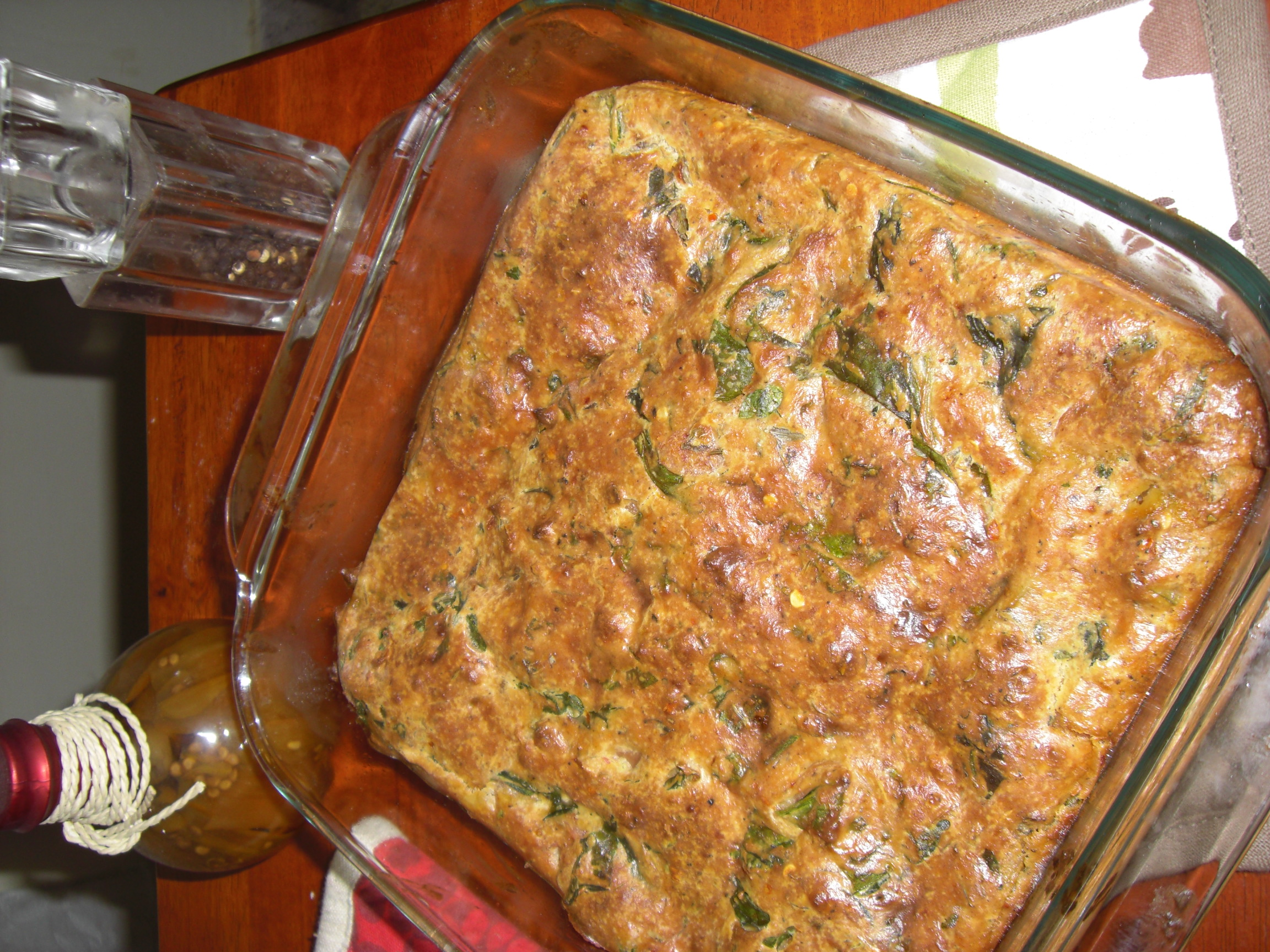 Spinach, Sausage and Cheese Bake