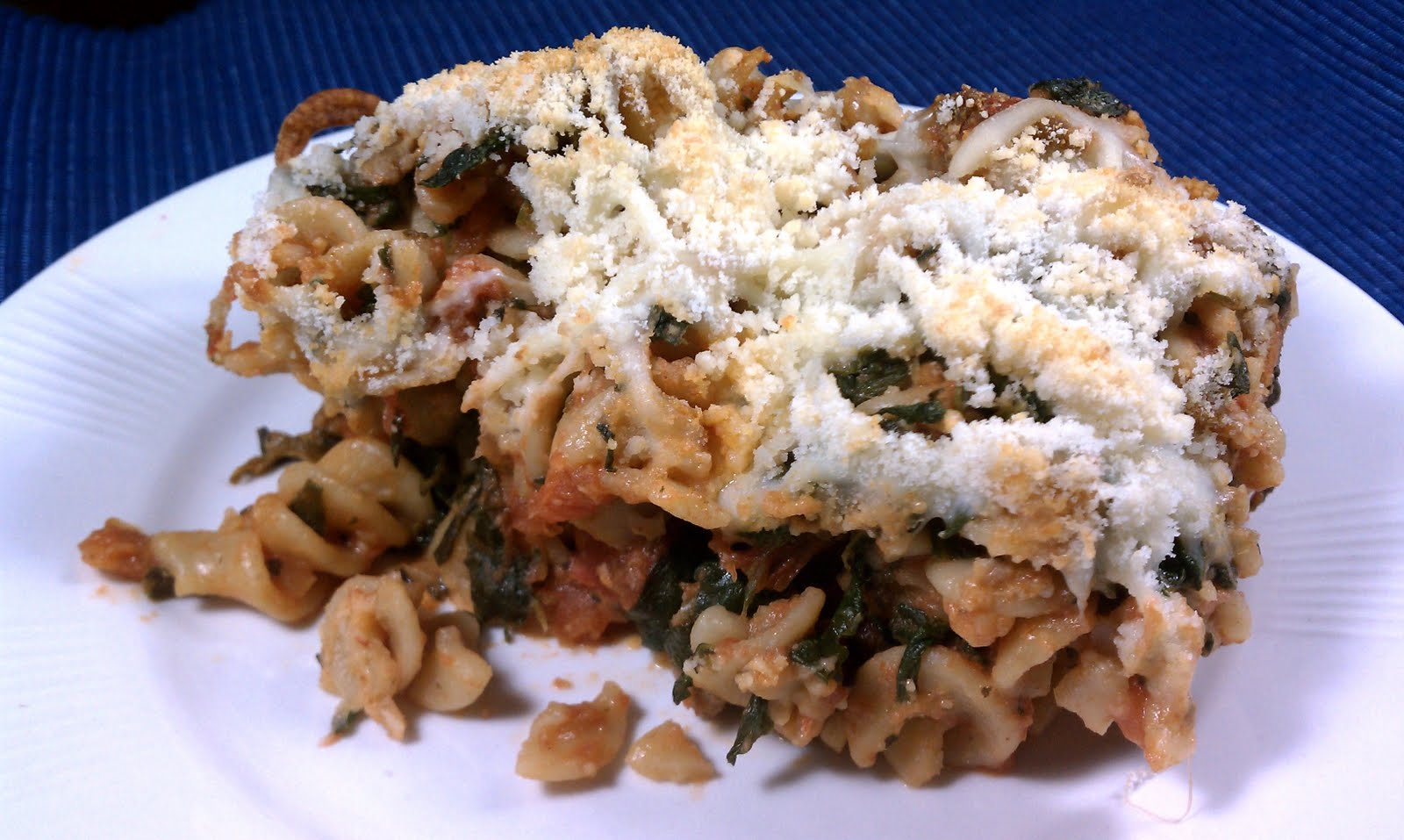 Spinach Turkey Noodle Bake