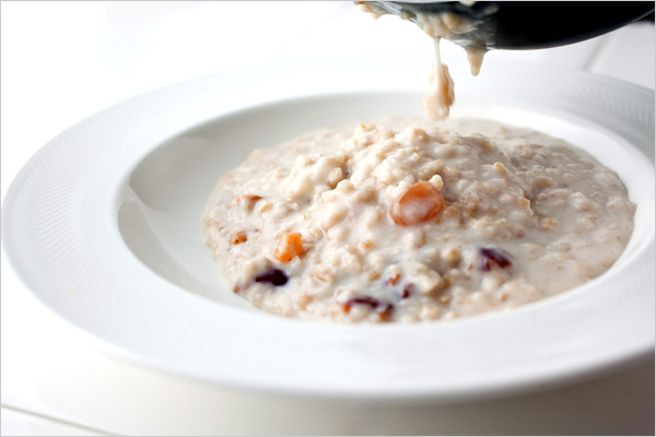 Steel Cut Oatmeal and Fruit (For Two)